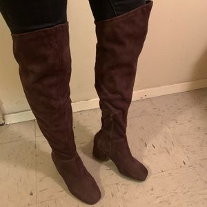 Like- Suede Over the Knee Boots